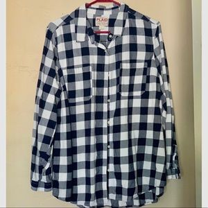 Old Navy, navy and blue plaid XL